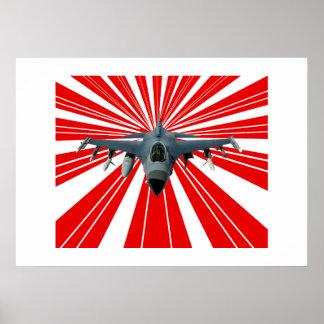 Avião de combate pôster