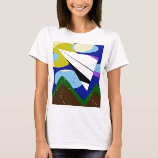 Avião de papel camiseta