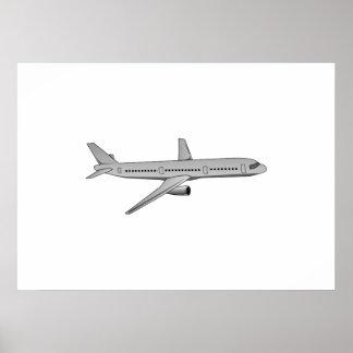 Avião de passagem pôsteres