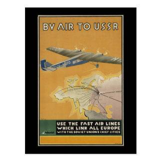 Avião de URSS Cartão Postal