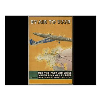 Avião de URSS Cartoes Postais