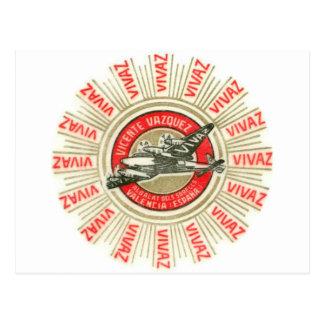 Avião de VIVAZ Cartao Postal