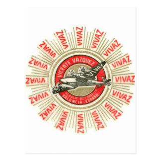 Avião de VIVAZ Cartão Postal