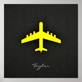 Avião do amarelo amarelo poster