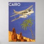 Avião do Cairo Egipto África do poster das viagens