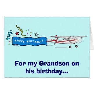 Avião do neto do feliz aniversario cartao