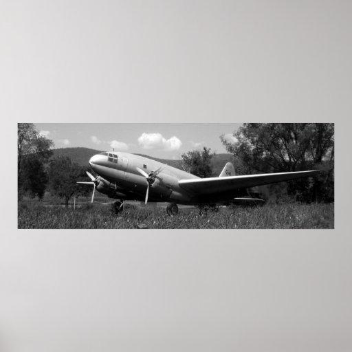 Avião do vintage posteres