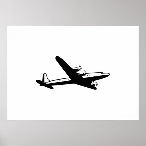 Avião do vintage poster