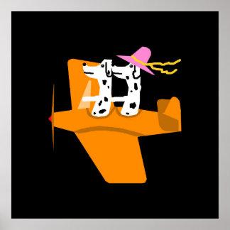 Avião e Dalmatians Poster