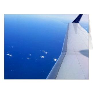 Avião na foto do céu Vazio-Dentro do cartão