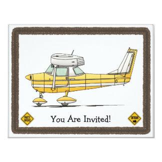 Avião pequeno bonito convite 10.79 x 13.97cm