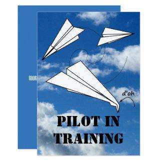 Avião piloto do avião do papel do vôo do convite 12.7 x 17.78cm