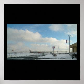 Avião/poster do aeroporto poster