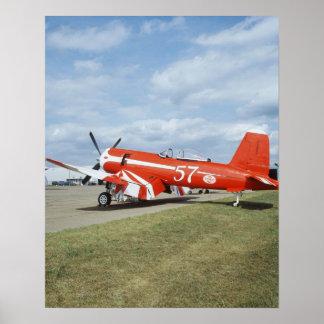 Avião super do corsário de F2G-1D em festival aére Impressão
