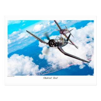 "Aviation Art Postcard ""F4U Corsair"" Cartão Postal"
