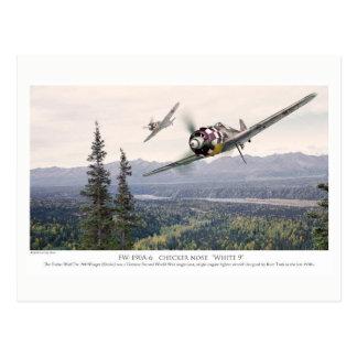 "Aviation Art Postcard ""Focke-Wulf Fw 190"" Cartão Postal"