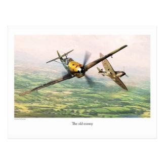 "Aviation Art Postcard ""Messerschmitt Bf 109E"" Cartão Postal"