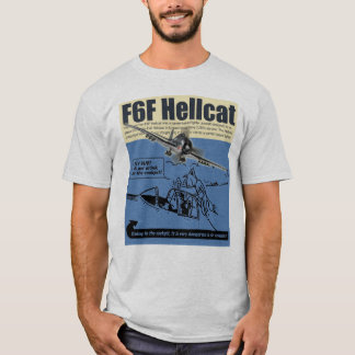 "Aviation Art T-shirt ""F6F Hellcat"" Camiseta"