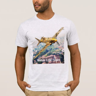"Aviation Art T-shirt ""Macchi C.202 Folgore"" Camiseta"