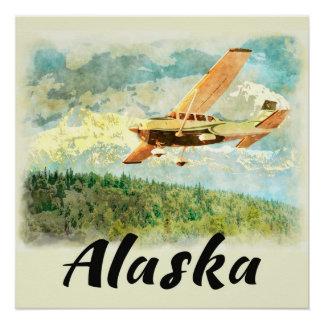 Aviões de Alaska (AK) em Alaska - poster de Poster Perfeito