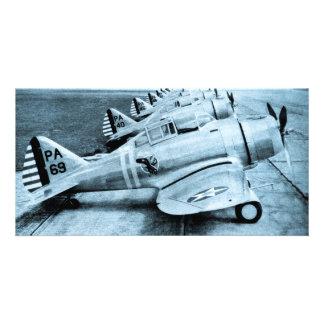 Aviões de combate do vintage WWII de Seversky P-35 Cartão Com Foto