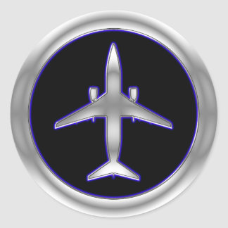 Aviões de jato de prata adesivo