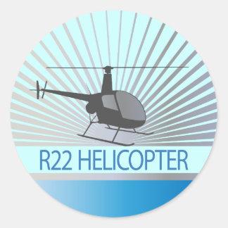 Aviões do helicóptero adesivos em formato redondos