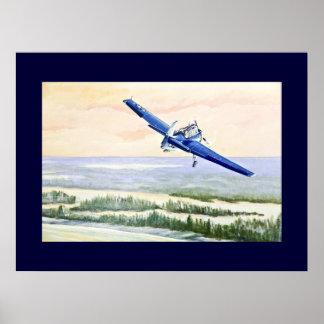 Aviões do vintage poster