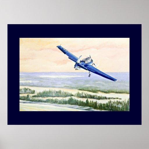 Aviões do vintage posteres
