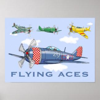 Aviões dos áss de vôo poster
