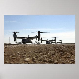Aviões tiltrotor do Osprey V-22 Pôsteres