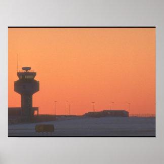 Aviões tower_Military de controlador aéreo Pôster