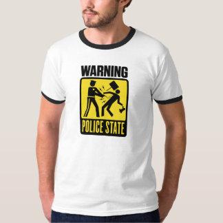 Aviso: Camisa do estado policial Tshirts