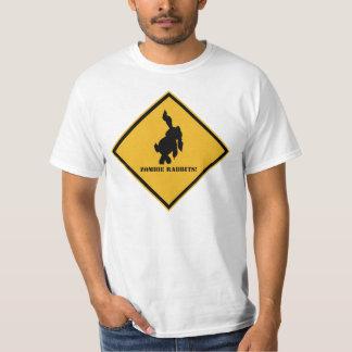 Aviso: Coelhos do zombi Tshirts