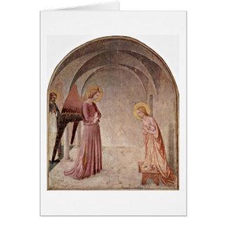 Aviso com o St Dominic por Fra Angelico Cartão