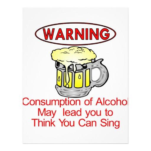 Aviso: Consumo de álcool Panfletos Personalizados