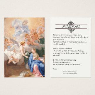 Aviso de cartões santamente da oração de Mary