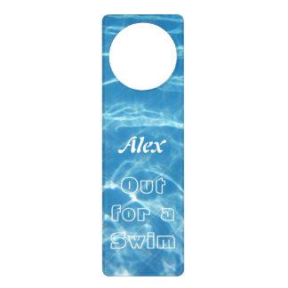 Aviso De Porta Cancele os corações aquáticos azuis legal da água
