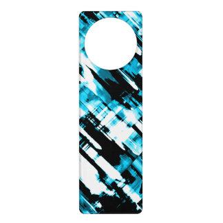 Aviso De Porta Digitalart G253 do abstrato do preto azul de