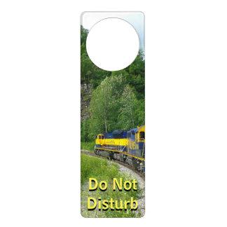 Aviso De Porta Fotografia expressa das férias do trem de Denali
