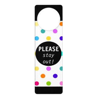 Aviso De Porta Gancho de porta das bolinhas dos confetes da cor
