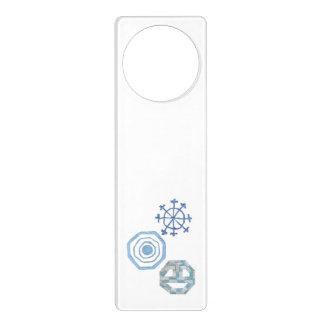 Aviso De Porta Gancho de porta especial do floco de neve