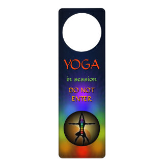 Aviso De Porta Ioga colorida sete ganchos de porta de Chakras Yin