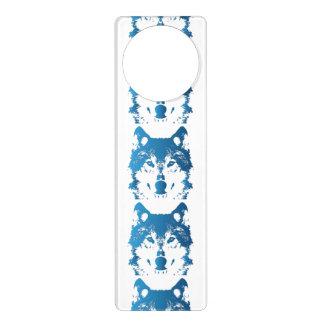 Aviso De Porta Lobo do azul de gelo da ilustração