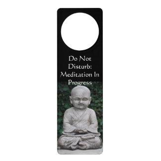 Aviso De Porta Não perturbe o gancho do botão de porta da meditaç