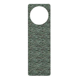 Aviso De Porta Teste padrão de ondas abstrato verde. Textura do