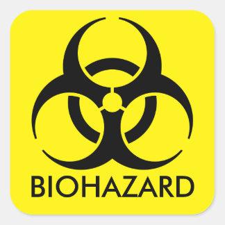 Aviso do Biohazard Adesivo Quadrado