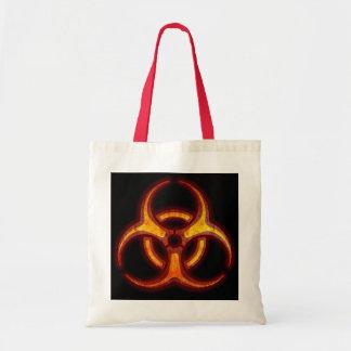 Aviso do zombi do Biohazard Sacola Tote Budget
