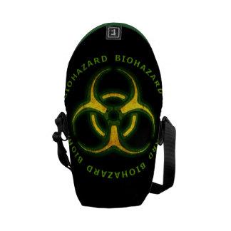 Aviso do zombi do Biohazard Bolsas Mensageiro
