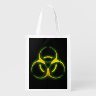 Aviso do zombi do Biohazard Sacola Ecológica